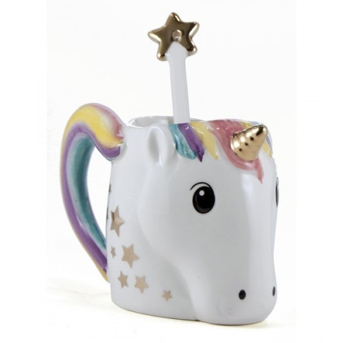 Unicorn Mug With Star Spoon