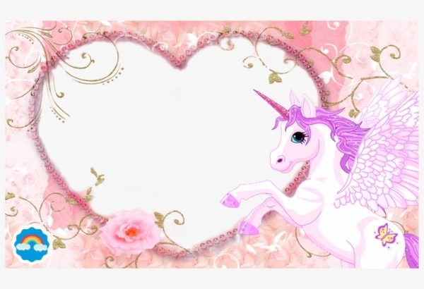 Unicorn Photo Frame Png
