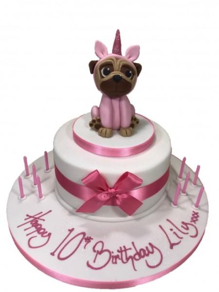 Unicorn Pug Cake