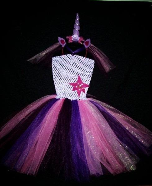 Unicorn Purple Pony, Twilight, Sparkle, Tutu Dress, Photo Prop