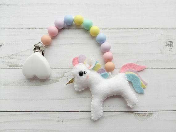 Unicorn Stroller Toy Car Seat Accessory Pram Toy Baby Shower Gift