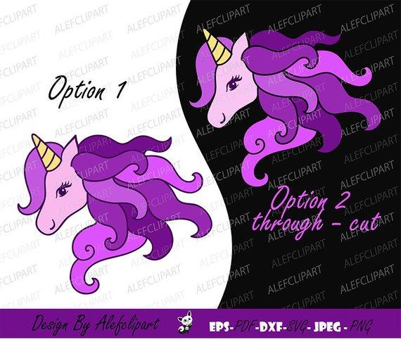 Unicorn Svg, Purple Unicorn Clipart, Unicorn Head Svg, Unicorn