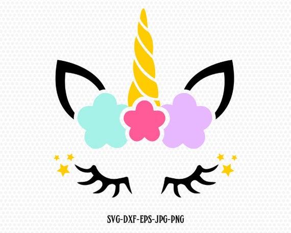 Unicorn Svg Unicorn Eyelashes Unicorn Birthday Svg Magical