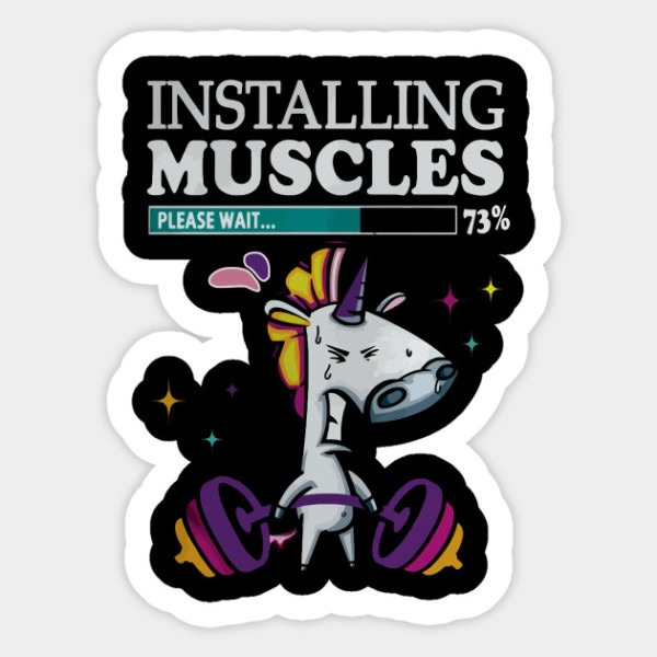 Unicorn T Shirt, Installing Muscles
