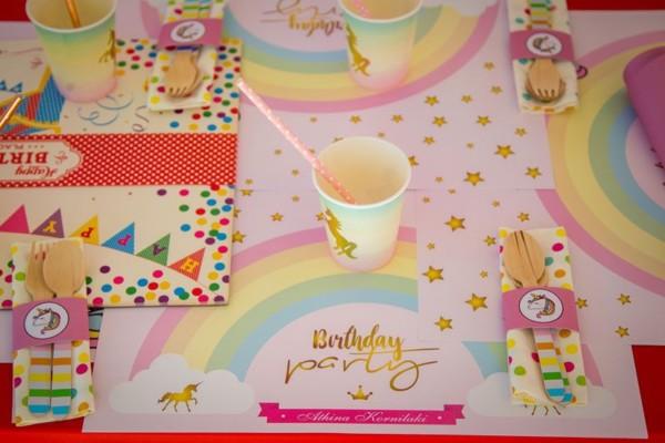 Unicorn Theme, Kids Table