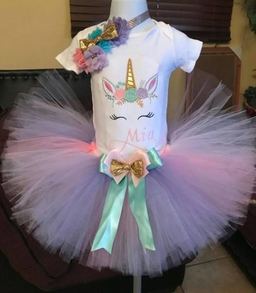 Unicorn Tutu Set, Unicorn Birthday Outfit, First Birthday Party