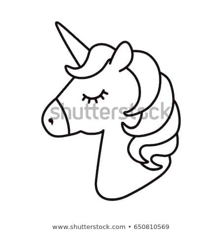 Unicorn Vector Horse Head Sleep Colored Stock Vector (royalty Free