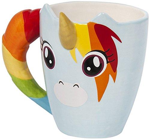 Unicorn With 3d Horn Multicoloured Mug – The Dabbing Unicorn