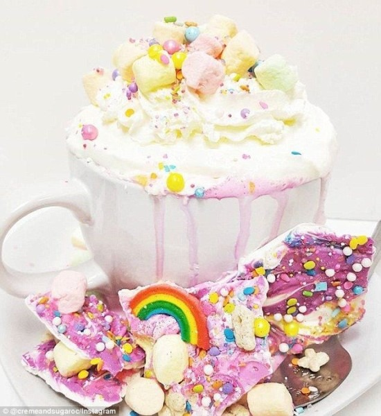 We're Dreaming Of This Unicorn Hot Chocolate