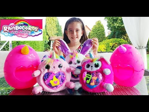 What's Inside The Big Unicorn Surprise Eggs   Toy Review