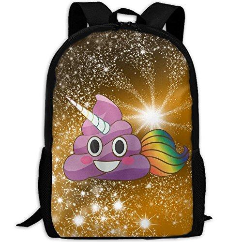 Winer Cute Magical Unicorn Poop Emoji With Rainbow Smile Colorful