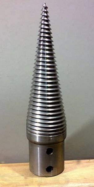 Wood Splitter Screw Cone Diameter D=80mm Lenght L=280mm Hardened