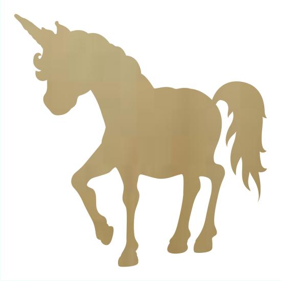 Wooden Unicorn Cutout Shape   Wholesale Wooden Letters, Wholesale