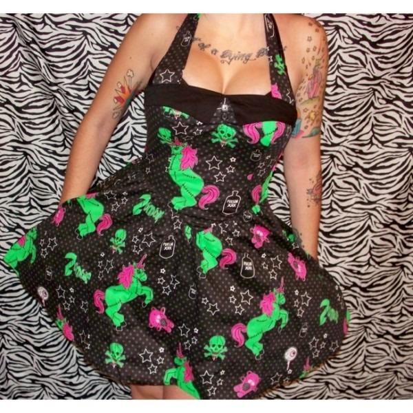 Zombie Unicorn Mini Dress