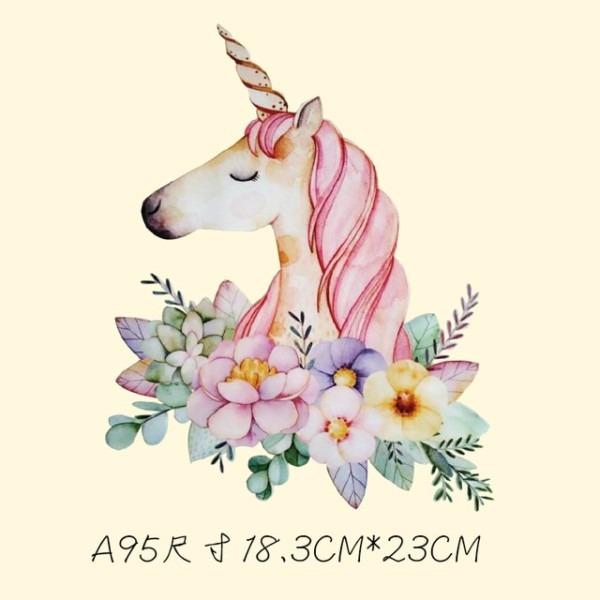 18 3x23cm Cartoon Cute Unicorn Hot Transfer Offset Hot Painting