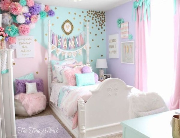 40+ Cute Unicorn Bedroom Design 20