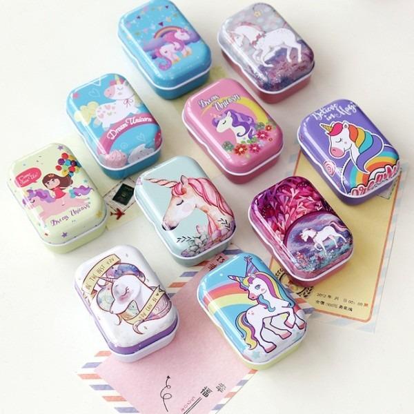 4pcs Lot Retro Car,flower,unicorn Wedding Jewelry Box Mini