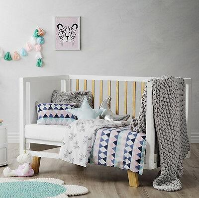 Adairs Kids Unicorn Play Cot Quilt Cover Set Bnip