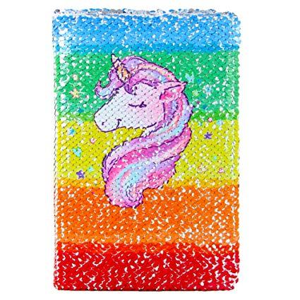 Amazon Com   Icosy Unicorn Sequin Journal Magic Reversible Sequin