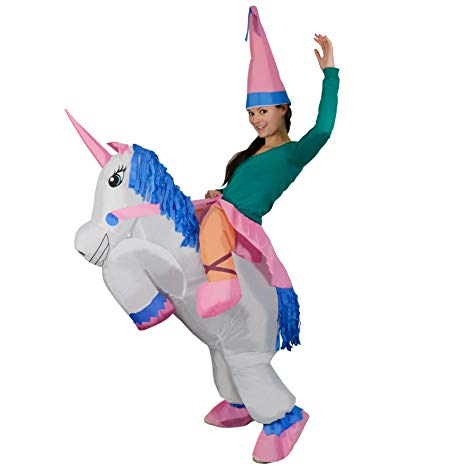 Amazon Com  Adult Inflatable Unicorn Princess Halloween Fancy