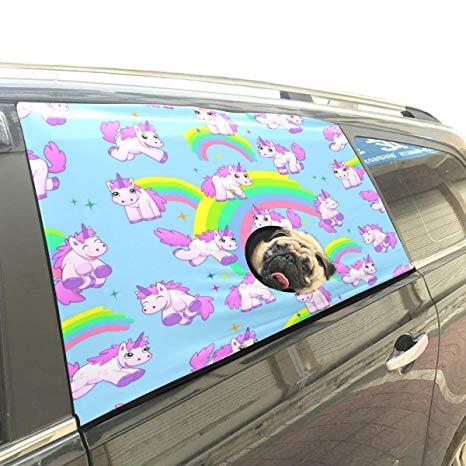 Amazon Com  Artsadd Unicorn Pet Car Window Curtain Car Visor Cover