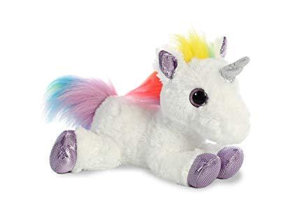 Amazon Com  Aurora World Rainbow Unicorn Flopsie  Toys & Games