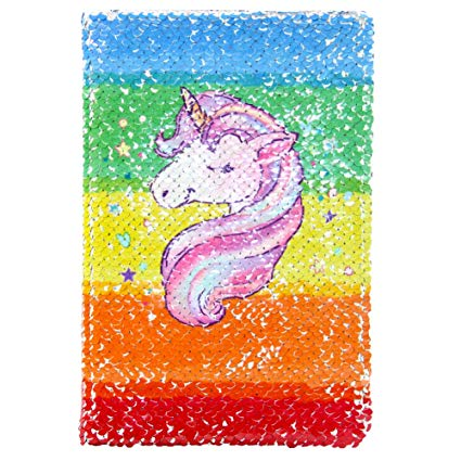Amazon Com  Beinou Unicorn Notebook, Reversible Sequin Notebook