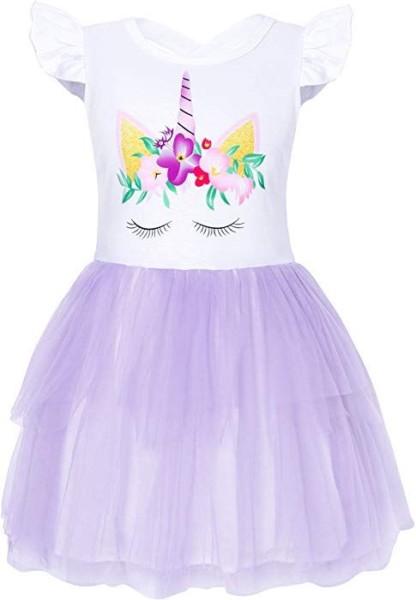 Amazon Com  Cotrio Big Girls Unicorn Tulle Dress For Halloween
