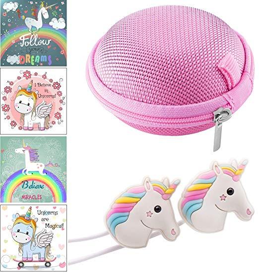 Amazon Com  Cute Rainbow Unicorn Headphones Earphones With Pink