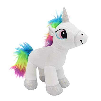 Amazon Com  Emelem Unicorn Stuffed Animal Soft Plush Toy Rainbow