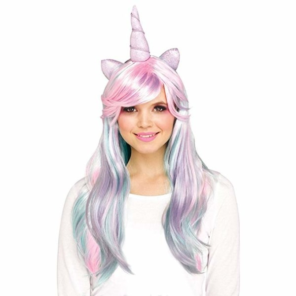 Amazon Com  Funworld Pastel Unicorn Wig (one Size)  Clothing