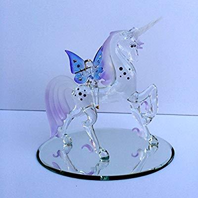 Amazon Com  Glass Baron ~ Large Unicorn With Fairy  Home & Kitchen