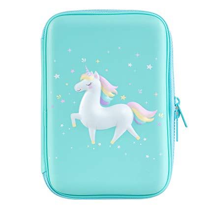 Amazon Com  Gooji Unicorn Pencil Case For Girls (hard Top) Magical