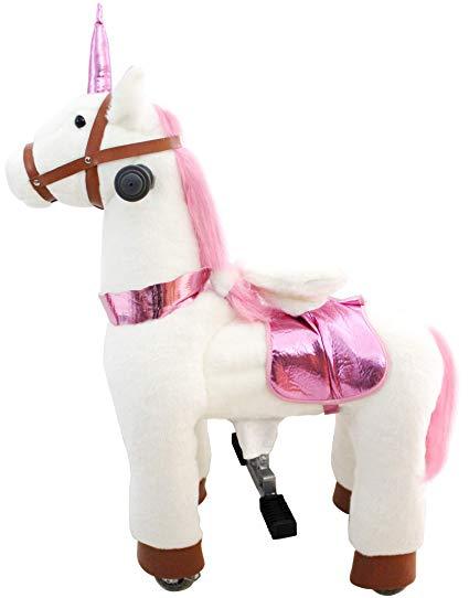 Amazon Com  Jojopoony Mechanical Walking Unicorn Ride On Horse Toy