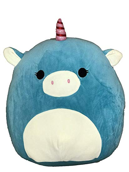 Amazon Com  Kellytoy Squishmallow 8  Ace The Blue Unicorn Super
