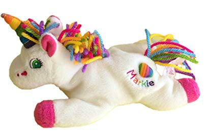 Amazon Com  Lisa Frank Markie The Unicorn Bean Bag Plush  Toys & Games