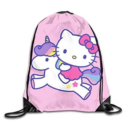 Amazon Com  Liuyan Drawstring Backpack Hello Kitty With Unicorn