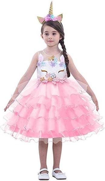 Amazon Com  Lzh Girl Unicorn Party Dress Cosplay Princess Birthday