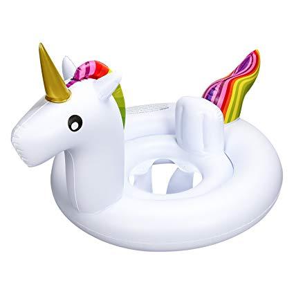 Amazon Com  Oumers Inflatable Unicorn Float Swim Ring, Inflatable