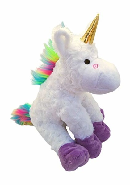 Amazon Com  Plush Rainbow Unicorn Stuffed Animal