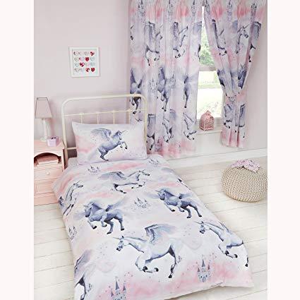 Amazon Com  Rapport Stardust Unicorn 4 In 1 Junior Toddler Bedding