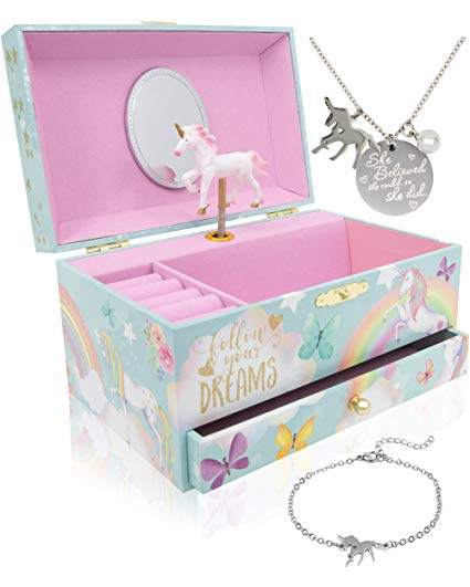 Amazon Com  The Memory Building Company Unicorn Music Box & Little
