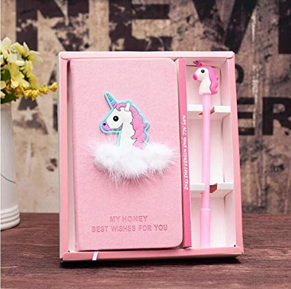 Amazon Com  Toshine Unicorn Diary Unicorn Journal Gel Pen Set