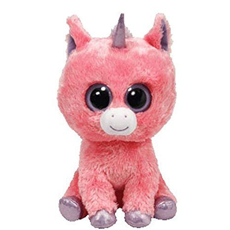 Amazon Com  Ty Beanie Boos Magic The Pink Unicorn (solid Eye Color