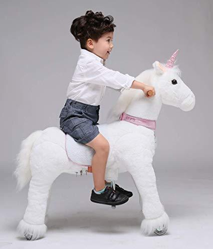 Amazon Com  Ufree Horse Action Pony, Ride On Toy, Mechanical