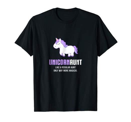 Amazon Com  Unicorn Aunt Shirt, Funny Cute Magical Gift  Clothing