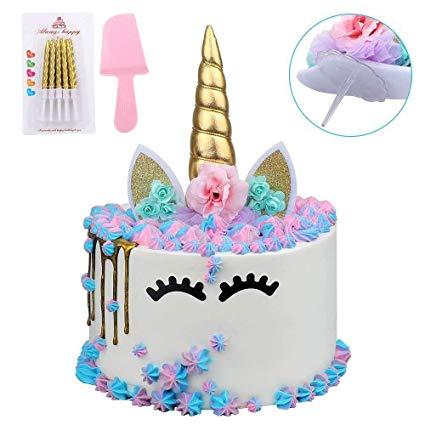 Amazon Com  Unicorn Cake Topper, Handmade Reusable Gold Unicorn