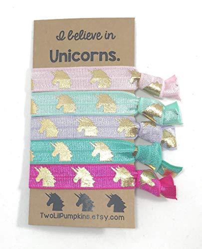 Amazon Com  Unicorn Hair Ties Gift Set