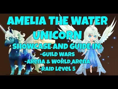 Amelia The Water Unicorn Showcase In Gw, Arena, World Arena (rta