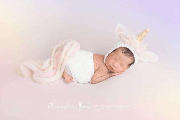 Baby Unicorn Costume Langley Newborn Photographer » Langley